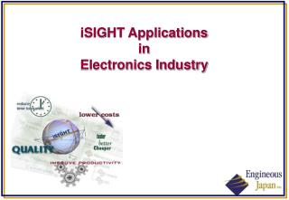 iSIGHT Applications  in Electronics Industry