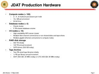 JDAT Production Hardware