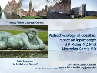 Pathophysiology of obesitas,  impact on laparoscopy  J P Mulier MD PhD Mercedes Garcia MD