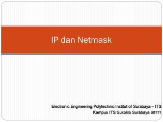 IP dan Netmask