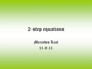 2-step equations