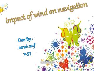 impact of wind on navigation