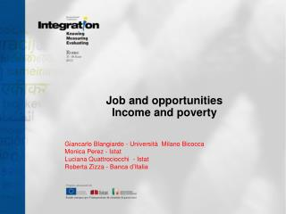 Job and opportunities  Income and poverty