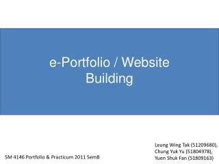SM 4146 Portfolio & Practicum 2011 SemB