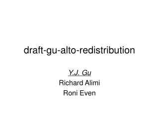 draft-gu-alto-redistribution
