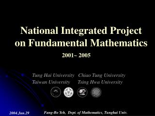 National Integrated Project on Fundamental Mathematics