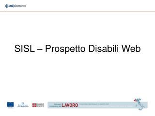 SISL – Prospetto Disabili Web