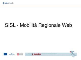 SISL - Mobilità Regionale Web