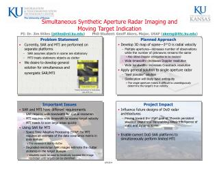 Simultaneous Synthetic Aperture Radar Imaging and  Moving Target Indication