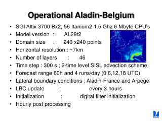 Operational Aladin-Belgium