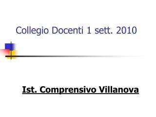 Collegio Docenti 1 sett. 2010