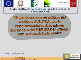 Firenze, 1 Dicembre 2009