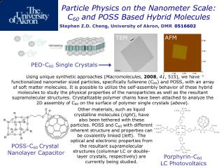 Particle Physics on the Nanometer Scale: C 60  and POSS Based Hybrid Molecules