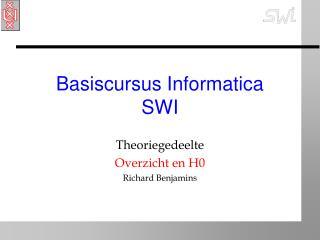 Basiscursus Informatica SWI