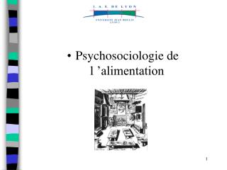 Psychosociologie de l  alimentation