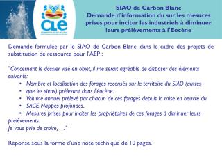SIAO de Carbon Blanc