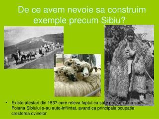 De ce avem nevoie sa construim exemple precum Sibiu?
