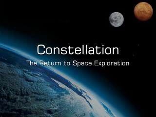 The Return to Space Exploration
