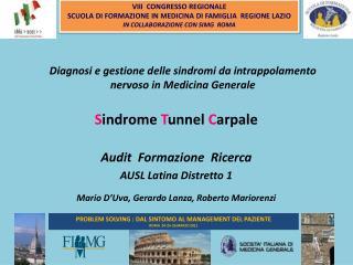 PROBLEM SOLVING : DAL SINTOMO AL MANAGEMENT DEL PAZIENTE ROMA  24-25-26 MARZO 2011