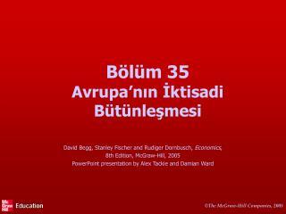 Bölüm  35 Avrupa'nın İktisadi Bütünleşmesi