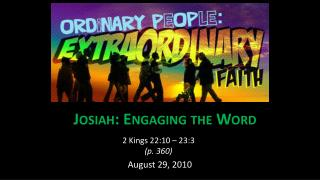 Josiah: Engaging the Word