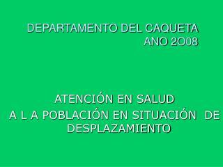 DEPARTAMENTO DEL CAQUETA ANO 2O08