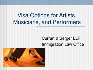 Visa Options for Artists, Musicians, and Performers