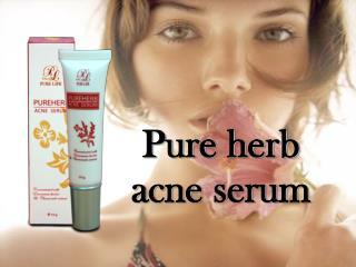 Pure herb  acne serum