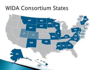 WIDA Consortium States