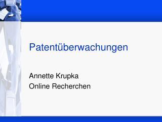 Patentüberwachungen