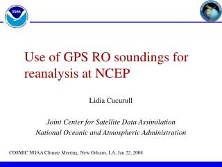 Use of GPS RO soundings for reanalysis at NCEP