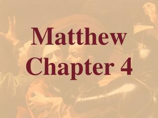 Matthew  Chapter 4