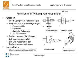 Funktion und Wirkung von Kupplungen