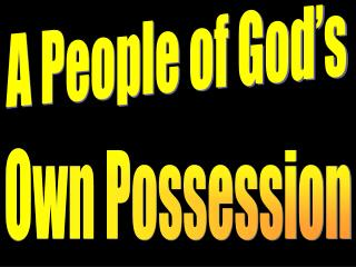 A People of God's