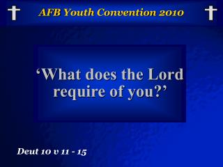 AFB  Youth Convention 2010