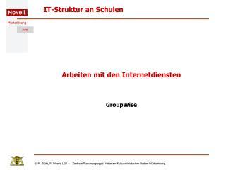 Arbeiten mit den Internetdiensten