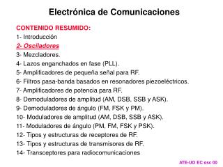 Electrónica de Comunicaciones