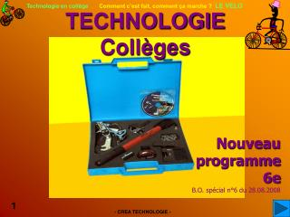 TECHNOLOGIE   Collèges