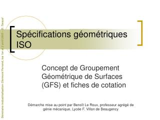 Sp�cifications g�om�triques ISO
