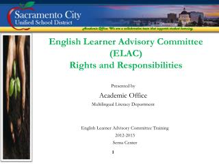 Presented by  Academic Office Multilingual Literacy Department