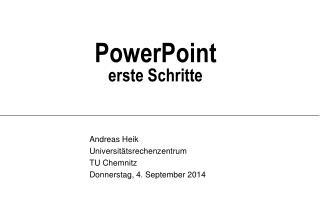 PowerPoint erste Schritte