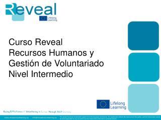 Curso Reveal  Recursos Humanos y Gesti�n de Voluntariado Nivel Intermedio