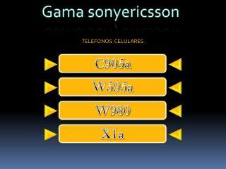 Gama  sonyericsson