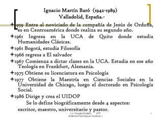 Ignacio Martín Baró  (1942-1989)   Valladolid, España.-