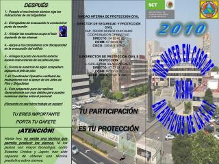 UNIDAD INTERNA DE PROTECCIÓN CIVIL DIRECTOR DE SEGURIDAD Y PROTECCIÓN CIVIL