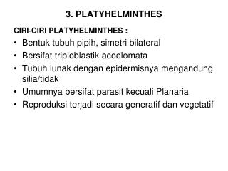 3. PLATYHELMINTHES