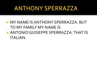 ANTHONY SPERRAZZA