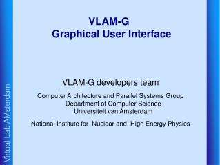 VLAM-G Graphical User Interface