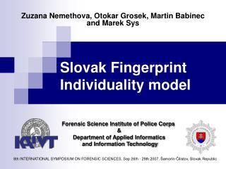 Slovak Fingerprint Individuality model