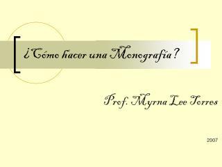 ¿Cómo hacer una Monografía?